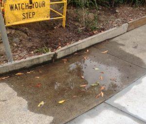 water leaks